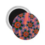 Colorful Floral Dream 2.25  Magnets Front
