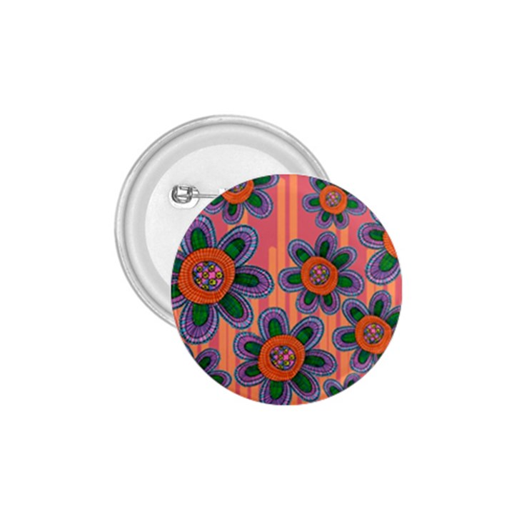 Colorful Floral Dream 1.75  Buttons