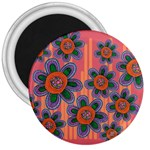 Colorful Floral Dream 3  Magnets Front