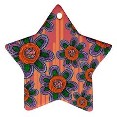 Colorful Floral Dream Ornament (Star)