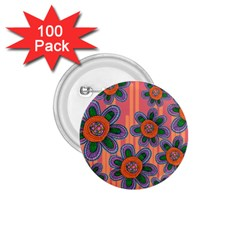 Colorful Floral Dream 1.75  Buttons (100 pack)