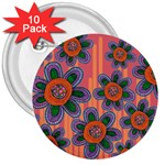 Colorful Floral Dream 3  Buttons (10 pack)  Front
