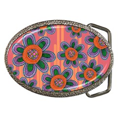 Colorful Floral Dream Belt Buckles by DanaeStudio