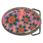 Colorful Floral Dream Belt Buckles