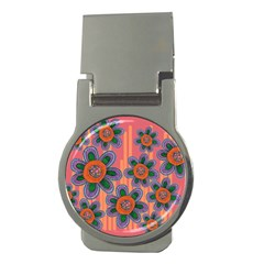 Colorful Floral Dream Money Clips (round)