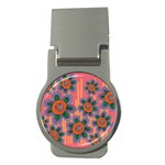 Colorful Floral Dream Money Clips (Round)  Front