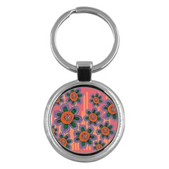 Colorful Floral Dream Key Chains (Round)