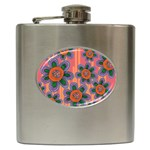 Colorful Floral Dream Hip Flask (6 oz) Front