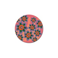 Colorful Floral Dream Golf Ball Marker