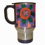 Colorful Floral Dream Travel Mugs (White) Left
