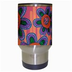 Colorful Floral Dream Travel Mugs (White) Center