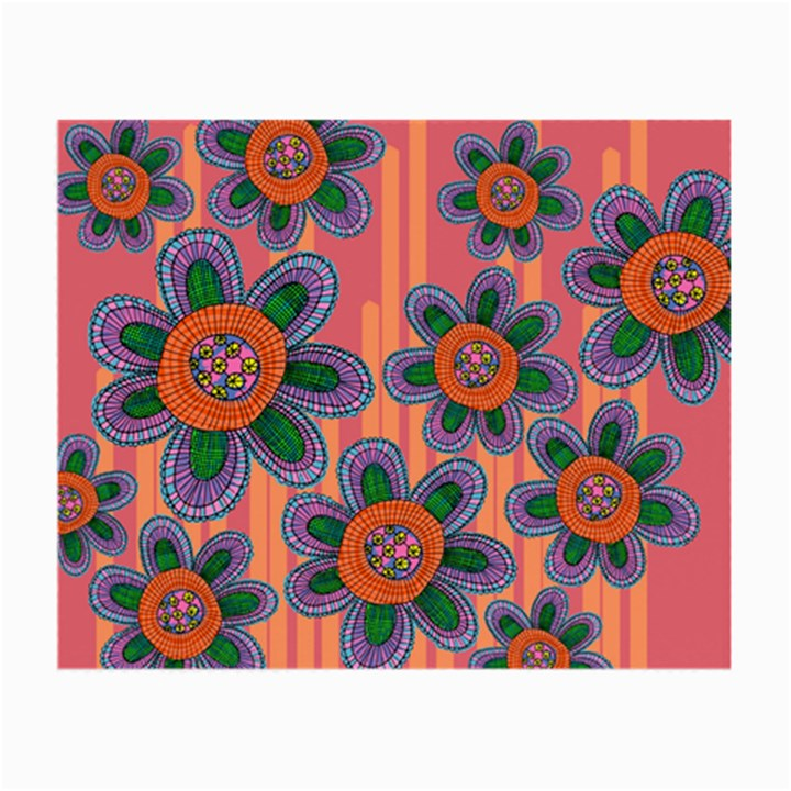 Colorful Floral Dream Small Glasses Cloth