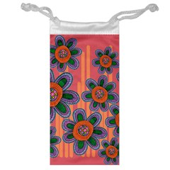 Colorful Floral Dream Jewelry Bags by DanaeStudio