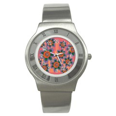 Colorful Floral Dream Stainless Steel Watch by DanaeStudio