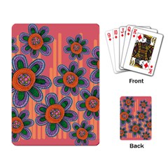 Colorful Floral Dream Playing Card by DanaeStudio