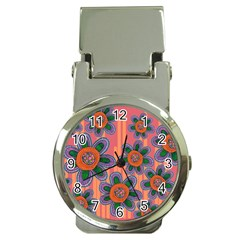Colorful Floral Dream Money Clip Watches