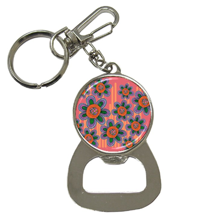 Colorful Floral Dream Bottle Opener Key Chains