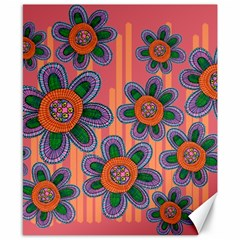 Colorful Floral Dream Canvas 8  X 10  by DanaeStudio