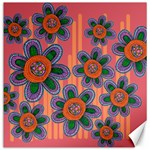 Colorful Floral Dream Canvas 16  x 16   16 x16 Canvas - 1