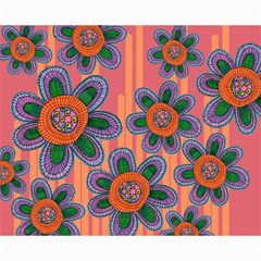 Colorful Floral Dream Canvas 16  X 20