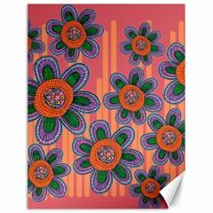 Colorful Floral Dream Canvas 18  X 24