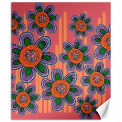 Colorful Floral Dream Canvas 20  X 24   by DanaeStudio
