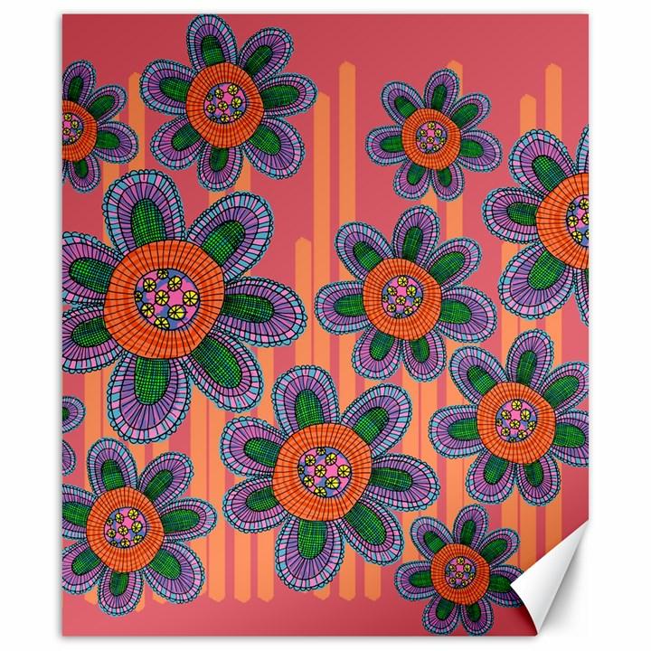 Colorful Floral Dream Canvas 20  x 24