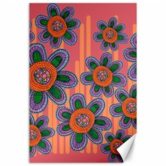 Colorful Floral Dream Canvas 24  X 36  by DanaeStudio