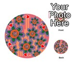 Colorful Floral Dream Playing Cards 54 (Round)  Front - Heart6