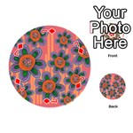 Colorful Floral Dream Playing Cards 54 (Round)  Front - Diamond7