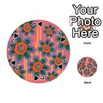 Colorful Floral Dream Playing Cards 54 (Round)  Front - Spade7