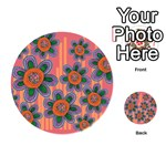 Colorful Floral Dream Playing Cards 54 (Round)  Back