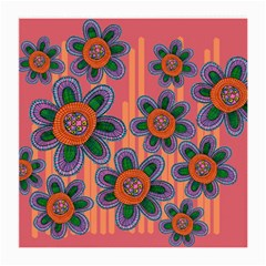 Colorful Floral Dream Medium Glasses Cloth (2 Side) by DanaeStudio