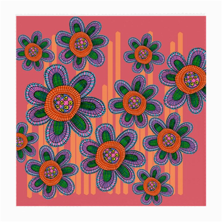Colorful Floral Dream Medium Glasses Cloth (2-Side)