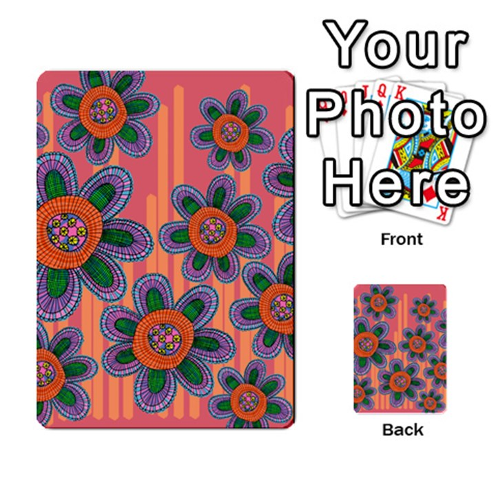 Colorful Floral Dream Multi-purpose Cards (Rectangle)