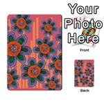 Colorful Floral Dream Multi-purpose Cards (Rectangle)  Back 9