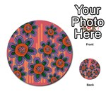 Colorful Floral Dream Multi-purpose Cards (Round)  Back 1
