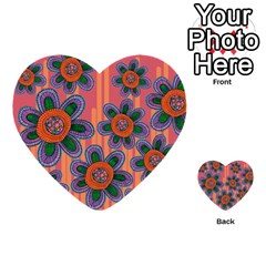 Colorful Floral Dream Multi Purpose Cards (heart)