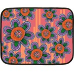 Colorful Floral Dream Double Sided Fleece Blanket (Mini)  35 x27 Blanket Front