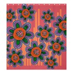 Colorful Floral Dream Shower Curtain 66  x 72  (Large)  58.75 x64.8 Curtain