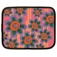 Colorful Floral Dream Netbook Case (xl)  by DanaeStudio