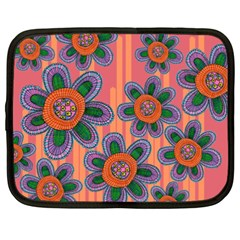 Colorful Floral Dream Netbook Case (xxl)  by DanaeStudio