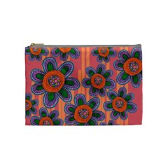 Colorful Floral Dream Cosmetic Bag (medium)  by DanaeStudio