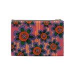 Colorful Floral Dream Cosmetic Bag (Medium)  Back
