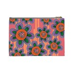 Colorful Floral Dream Cosmetic Bag (Large)  Back