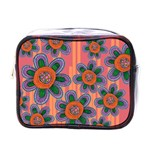 Colorful Floral Dream Mini Toiletries Bags Front