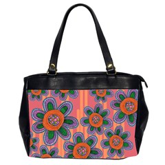 Colorful Floral Dream Office Handbags (2 Sides)  by DanaeStudio