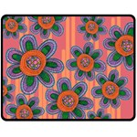 Colorful Floral Dream Fleece Blanket (Medium)  60 x50 Blanket Front
