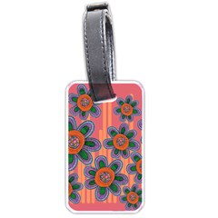 Colorful Floral Dream Luggage Tags (two Sides) by DanaeStudio
