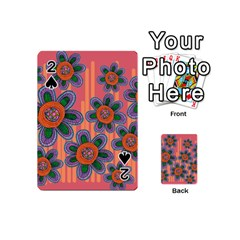 Colorful Floral Dream Playing Cards 54 (mini)  by DanaeStudio